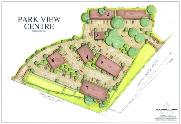 Parkview Centre building plans